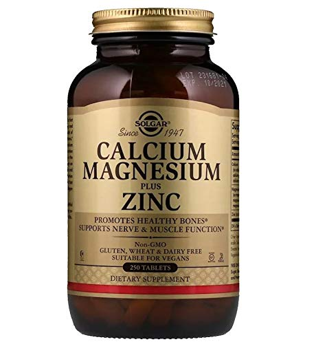 Solgar - Calcium Magnesium Plus Zinc, 250 Tablets, 2 Pack - Supports Bone Health and Nerve and Muscle Function ()