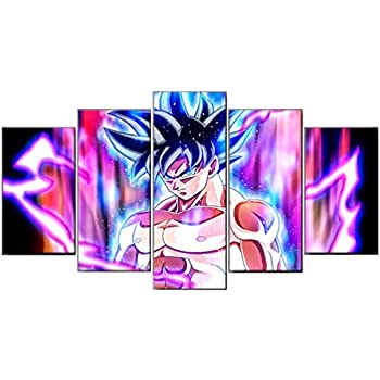 FEGAGA Dragon Ball Z and Super Goku Poster 5 pc Canvas Painting Pictures