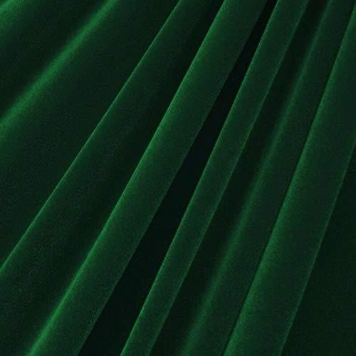 Hunter Green Velvet Flocking Drapery Upholstery Fabric - Sold By The Yard - -