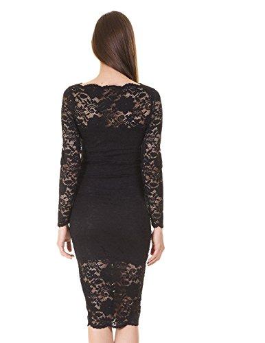 Vestido Vila Vigrit L/S Dress Negro Negro