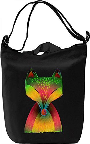 Colourful Fox Borsa Giornaliera Canvas Canvas Day Bag| 100% Premium Cotton Canvas| DTG Printing|