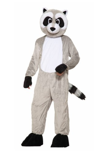 Forum Novelties Men's Rickey Raccoon Plush Mascot Costume, Gray, One Size for $<!--$60.99-->