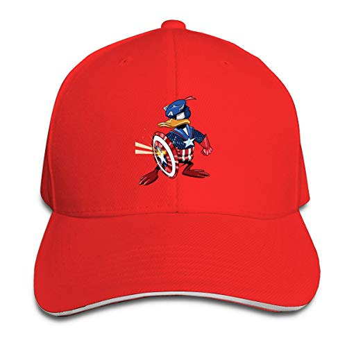 Shenigon Captain Donald Duck Cap Unisex Low Profile Cotton Hat Baseball Caps Red
