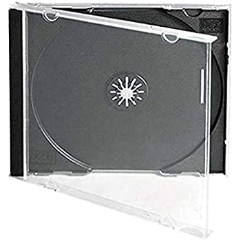 Amazon.com: 100 Standard Clear CD Jewel Case: Home Audio ...