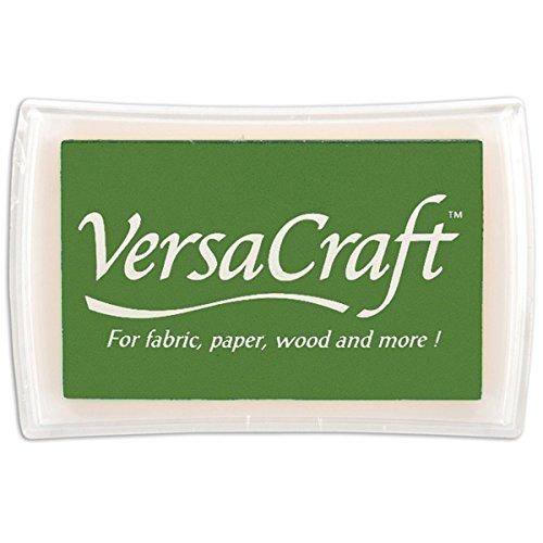 Tsukineko Full-Size VersaCraft Fabric and Home Decor Crafting Pigment Inkpad, Pine