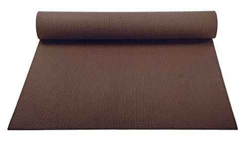 Classic Yoga Mat Roll - YogaAccessories 1/8'' Lightweight Classic Yoga Mat and Exercise Pad - Dark Chocolate
