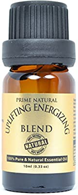 Uplifting Energizing Essential Oil Blend 10ml - 100% Natural Pure Undiluted Therapeutic Grade for Aromatherapy, Scents & Diffuser - Motivation, Purification, Stimulation, Mental Alertness