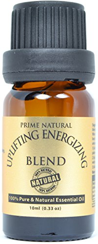 Uplifting Energizing Essential Oil Blend 10ml - 100% Natural Pure Undiluted Therapeutic Grade for Aromatherapy, Scents & Diffuser - Motivation, Purification, Stimulation, Mental Alertness ()