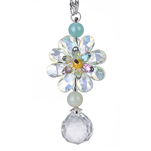H&D Hanging Chandelier Crystals Ball Prisms Fengshui Suncatcher Rainbow Pendant Maker Car Charm (#2) ()