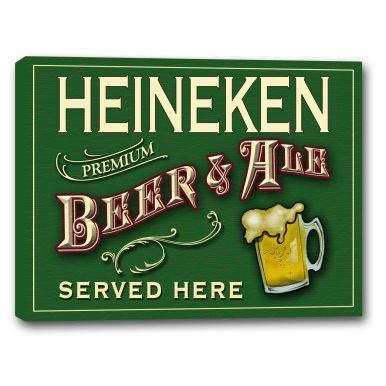 heineken-beer-ale-stretched-canvas-sign