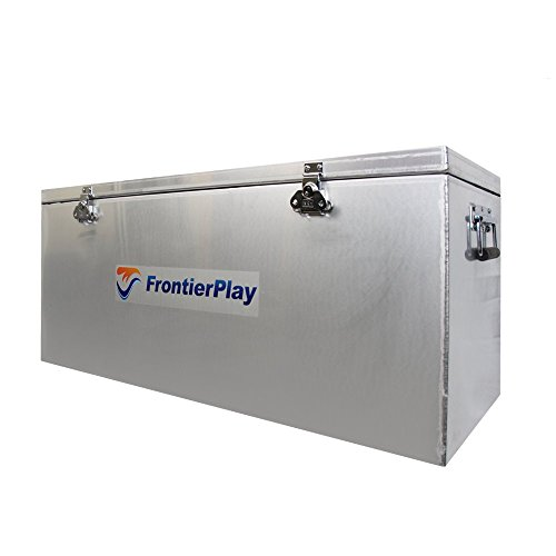 FrontierPlay Aluminum Waterproof Utility Storage Dry Adventure Box Container with a Double Seal (37