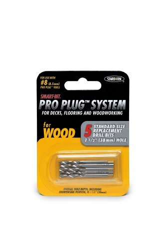 Pro Plug #8 Replacement Bits For Use with Pro Plug System Tool - 5 Pack of Bits Bda261c ()