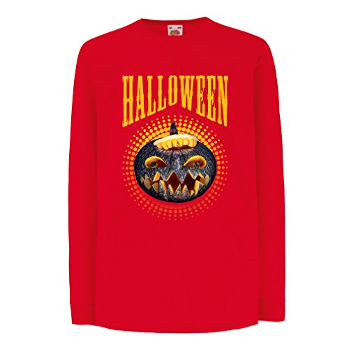 T-Shirt for Kids Halloween Pumpkin - Clever Costume Ideas 2017 (5-6 Years Red Multi -