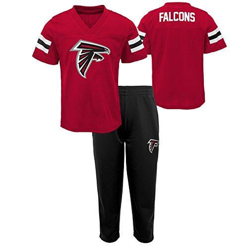 Outerstuff NFL NFL Atlanta Falcons Toddler Training Camp Short Sleeve Top & Pant Set Crimson, 4T
