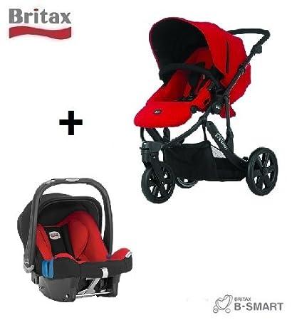 Britax B-Smart - Carrito de 3 ruedas (incluye silla de coche Baby Safe