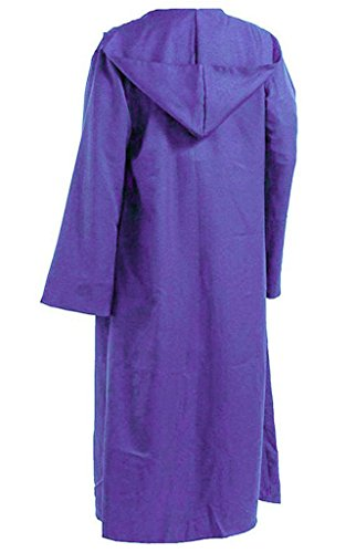 [YANGGO Colorful Polyester Party Hooded Cloak Cape US Size,Men Medium,Purple] (Purple Hooded Cape)