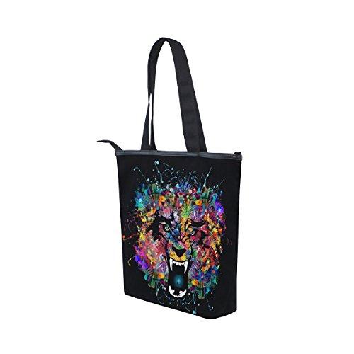 Handbag Abstract Wolf Canvas MyDaily Bag Shoulder Womens Watercolor Tote wWSO8