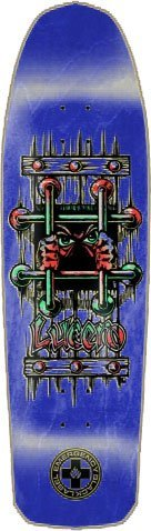 Black Label Lucero OG Bars Skateboard Deck - 9.25 Blue Emergency