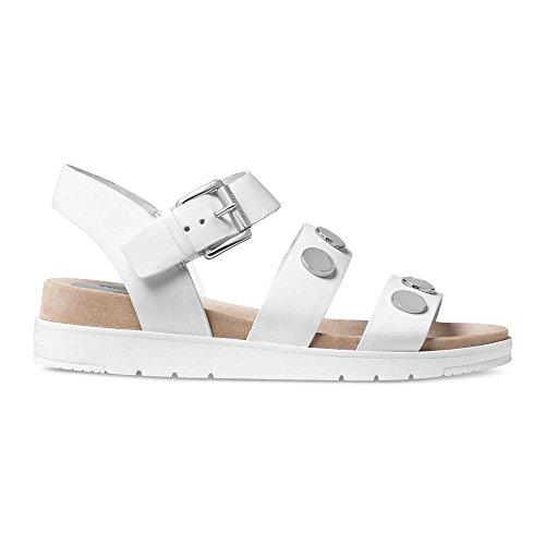Michael Kors sandalias mujer en piel nuevo reggie blanco