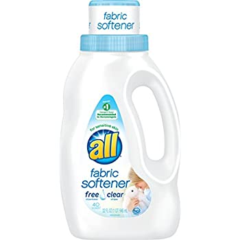 all Concentrated Fabric Softener Liquid, 40 Loads-Free & Clear-32 oz