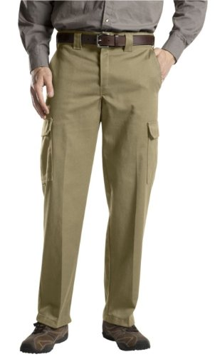 Dickies WP592 Relaxed Straight Fit Cargo Work Pant-Cramerton KHAKI-32x32 ()