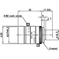 VS Technology VS-0620VM 1/1.8 6mm F2.0 Manual Iris C-Mount Lens, 5 Megapixel Rated