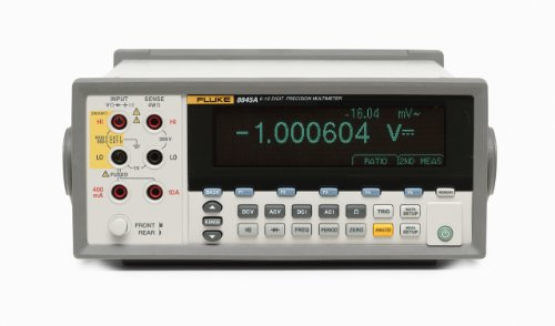 Fluke 8845A 120V 6.5 Dual Digital Display Precision Multimeter, 35 PPM, 0.0035 Percent Accuracy, 100 pA Resolution, Includes ISO 17025 Accredited Certificate of Calibration