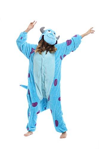 Barney Dinosaur Halloween Costume (Kigurumi Pajamas- Animal & Disner Character Pyjamas (L (5.61 feet ~ 5.90 feet), Sully))
