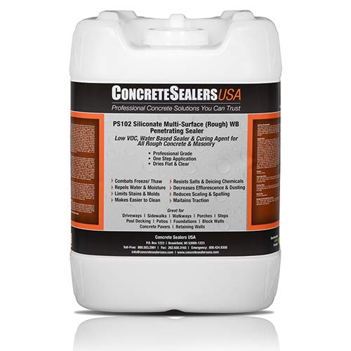 PS102 Siliconate Multi-Surface (Rough) WB Penetrating Sealer (5 gal.) (Patio Paver Building Wall Retaining A With)