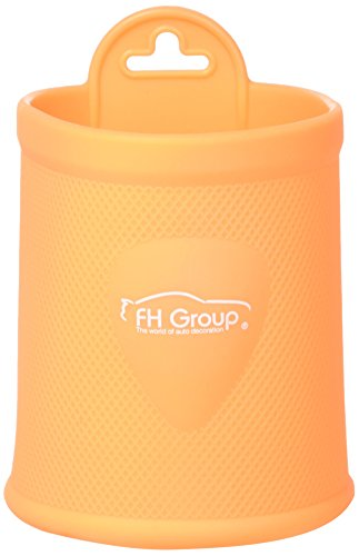 FH Group FH3021ORANGE Orange Silicone Dash/Vent Mounted Cup Holder (Smartphone Iphone, Galaxy Coin Grip)