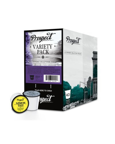 Prospect Tea Variety Pack Single Cup Tea for Keurig Brewers, 40 Count