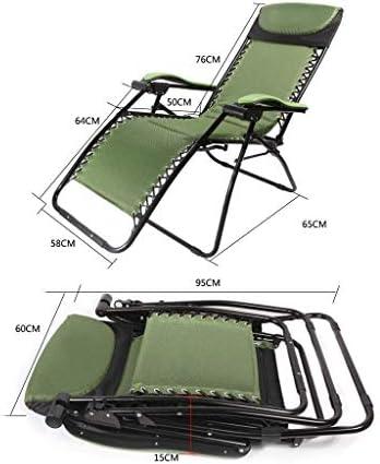 サンラウンジャー、サンラウンジャーリクライニングチェア無重力パティオデッキチェアリクライニングガーデンチェア屋外折りたたみ式ポータブルロッキングチェアサポート200kg(色:緑)