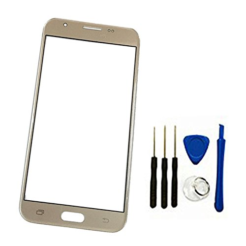 Front Screen Outer Glass top Panel Lens cover For Galaxy J7 2017 SM-J727 J727R4 J727V J727P SM-J727A & J7 Sky Pro &&J7 Prime 2017 SM-J727T1 replacement Gold (Not Digitizer&NO LCD)