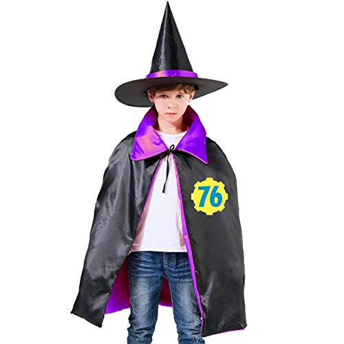 Fall Vault 76 Out Halloween Costumes Kids Witch Wizard Cloak with Hat Wizard -