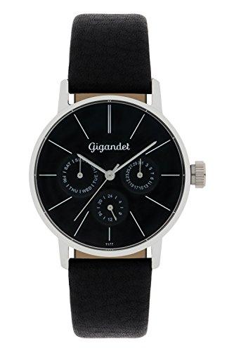 Gigandet Women's Quartz Watch Minimalism Multifunction Analog Leather Strap Black G38-002