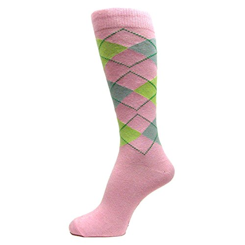 Argyle Pink And Green - Spotlight Hosiery Men's Argyle Dress Sock,Light Pink/Light Lime Green/Grey