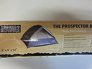 New Rugged Exposure The Prospector 8 4 Person Dome Tent 4RE8858 Camping  Red/Blk