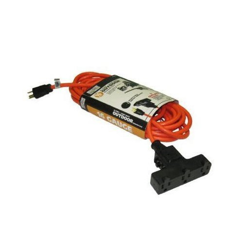 Master Electrician CST-100A 100-Feet 16 3 SJTW-A Outdoor Extension Cord, Orange by Master Electrician