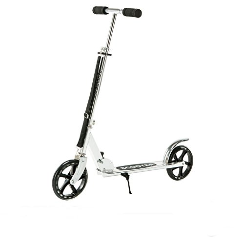 Silver exercise scooter folding outdoor kid adult ride sport kick scooter 2 wheels by beautifulwoman