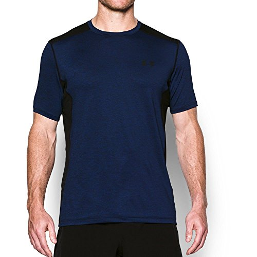 Under Armour Men's Raid Short Sleeve T-Shirt, Royal/Black, Medium