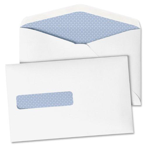 Quality Park Window Postage Saving Envelopes, 28 lb, 6 x 9.5 Inches, White Wove, Box of 500 (90063)
