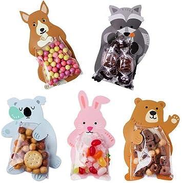Dizie 50 PIEZAS Bolsas Regalo Cumpleaños Bolsa del Animal Artículos de fiesta de cumpleaños para niños Regala bolsas de regalo de dulces reutilizables