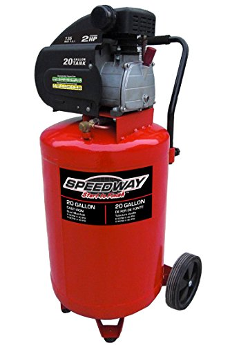 Speedway 7342 2-Hp 20-Gallon Vertical Compressor