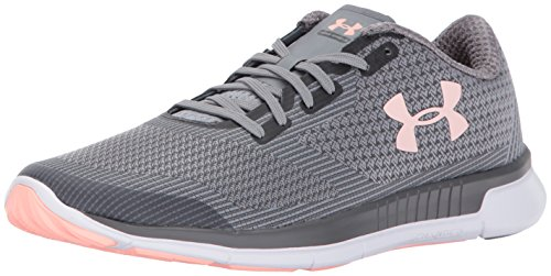 Under Armour Women's Charged Lightning Running Shoe, Rhino Gray (100)/Steel, 7
