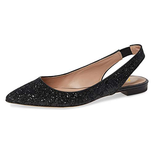 0e8f4e39c5d YDN Women Pointed Toe Slingback Ballet Flats Low Heel Slide Sandals  Comfortable Slip On Dress Pumps