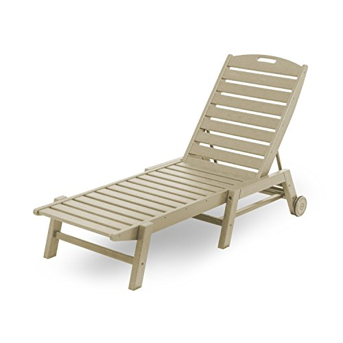Lounge Nautical Chaise Wheel (Nautical Wheel Chaise Lounge Finish: Sand)
