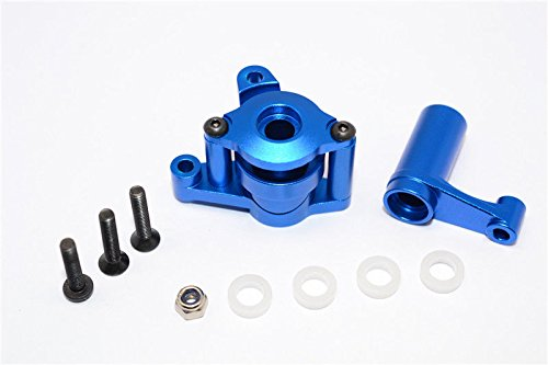 GPM Axial Yeti (AX90026) & Yeti Score (AX90068) Upgrade Parts Aluminum Steering Assembly - 6 Pcs Blue - Gpm Steering Assembly