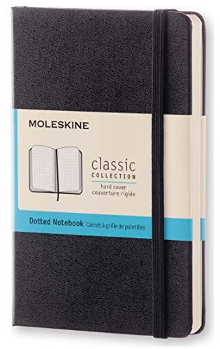 "Moleskine Classic Notebook, Hard Cover, Pocket (3.5"" x 5.5"") Dotted, Black, 192 Pages"