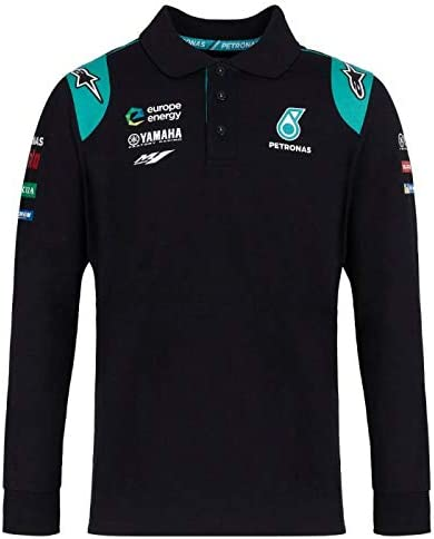 Petronas Yamaha Moto GP Team Negro Long Sleeve Polo Shirt Oficial ...