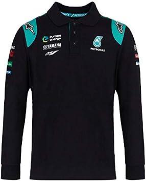 Petronas Yamaha Moto GP Team Negro Long Sleeve Polo Shirt Oficial ...